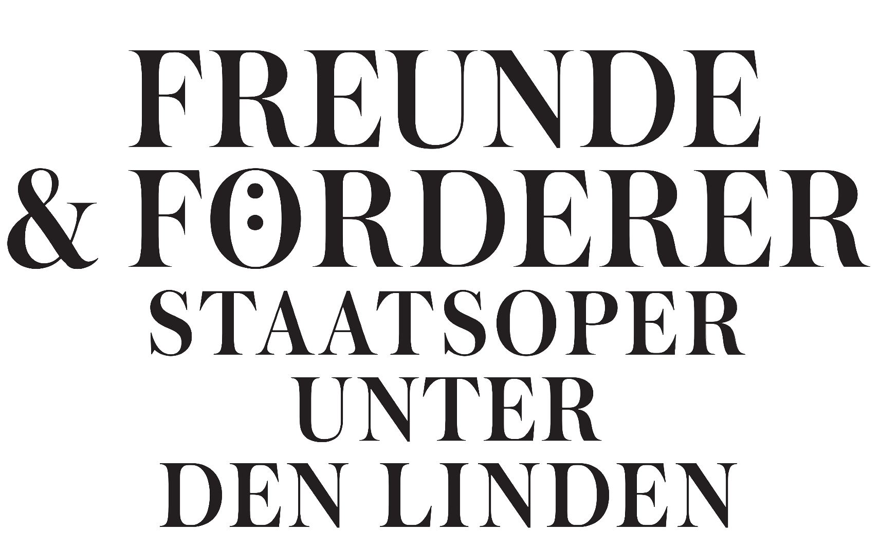 Supported by the Association of the Friends and Supporters of the Staatsoper Unter den Linden
